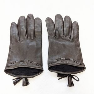 Anya Hindmarch Leather Gloves 6.5 S/M